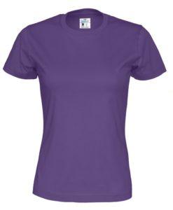 T-shirt Cottover Dam Färgad