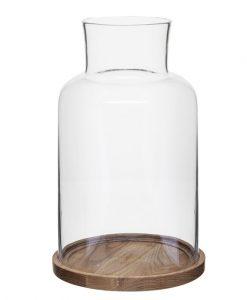 Ljuslykta Oval Oak Stor
